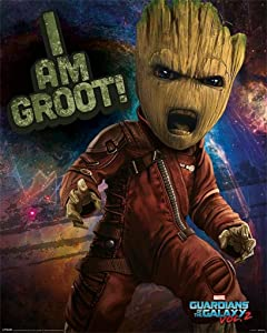 Pyramid International Guardians of The Galaxy Vol. 2 Angry Groot Movie Cool Wall Decor Art Print Poster 16x20