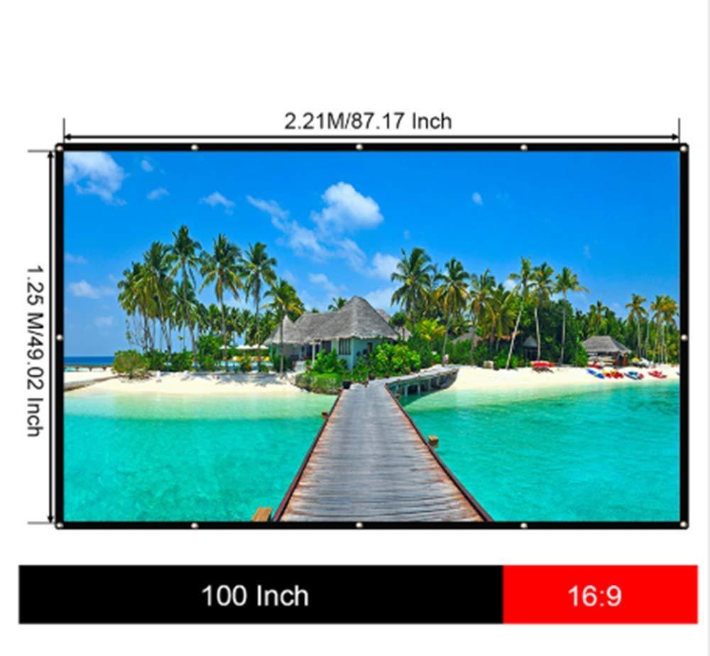 OSB STYLE 150 Pulgadas 16: 9 Pantalla de proyector portátil de ...
