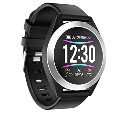 BIYATE Womens Sport Metal and Silicone Touchscreen ...