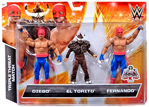 WWE Wrestling Exclusives Diego, El Torito & Fernando Exclusive Action Figure 3-Pack -