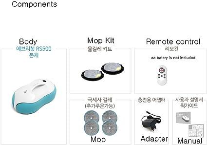 EVERYBOT Aspirador RS500 microfibra Mop Pad Robot con Pads 4