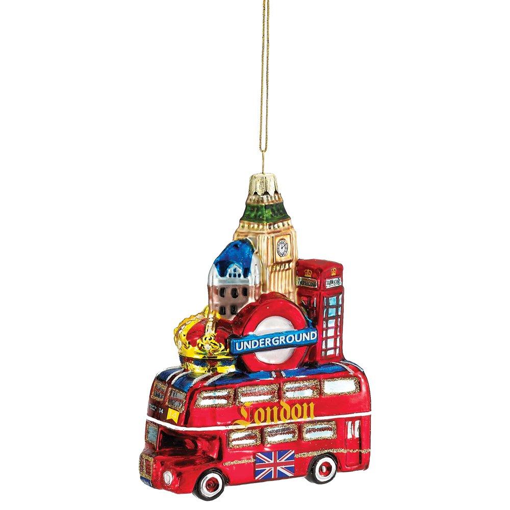 Amazon Com Kurt Adler Glass London City Ornament 5 Inch Home