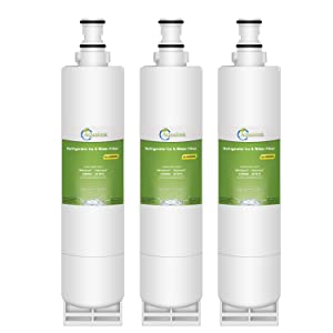 Aqualink 4396508 Refrigerator Water Filter Replacement for Whirlpool Water Filter 4396508, 4396510, EDR5RXD1, EveryDrop Filter 5, NLC240V, PUR W10186668, Kenmore 46-9010 (3 Pack)