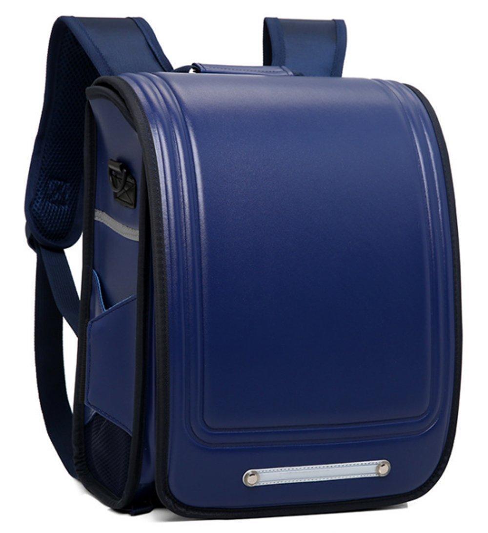 たくさんの改良を加えて ランドセル 男の子 特典多数 高級合皮 大容量 ワンタッチロック 軽量 japanese schoolbag A4フラットファイル対応 小学生通学鞄 6年間保証付き シンプル ブッラク (ブルー×タイプB) B07F28TWLX ブルー×タイプB ブルー×タイプB