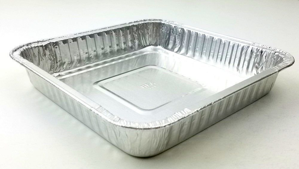 Handi-Foil Square Aluminum Foil Cake Pan - Disposable Baking Tin REF# 308 (200)