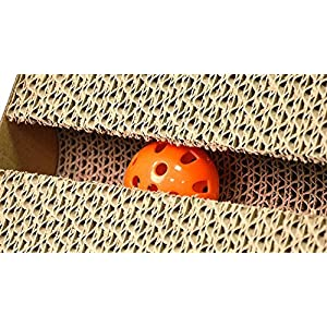 "Cat Scratch Pad,Scratcher with Catnip,Scratching Posts,Cat Toy Scratch Board Lounge with Bell-Ball (18.1""x 9.84"" x 4.33"")"