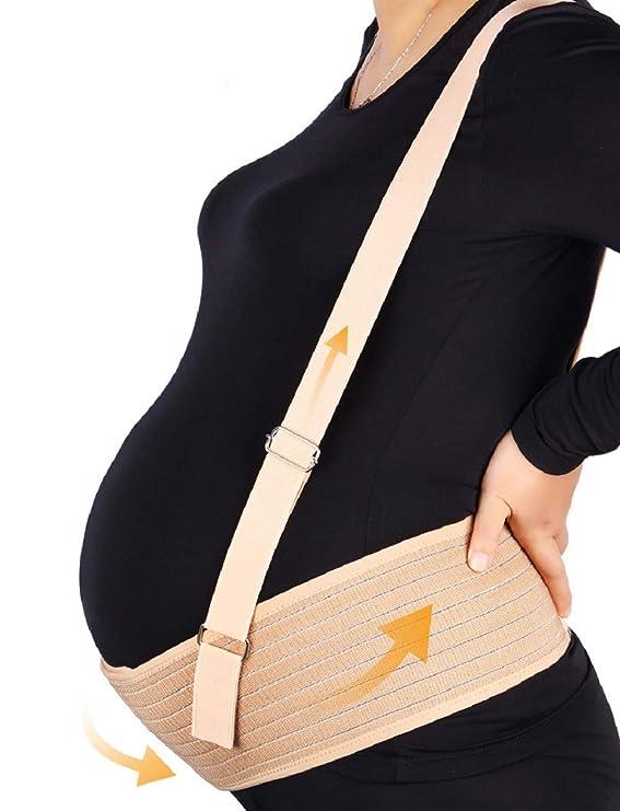 Cómodo Cinturón de Maternidad,Cinturón de Soporte del Embarazo con hombro desmontable