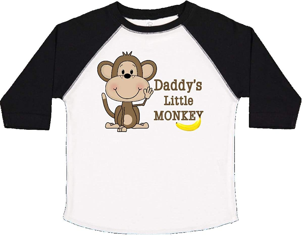 inktastic Daddys Little Monkey Toddler T-Shirt
