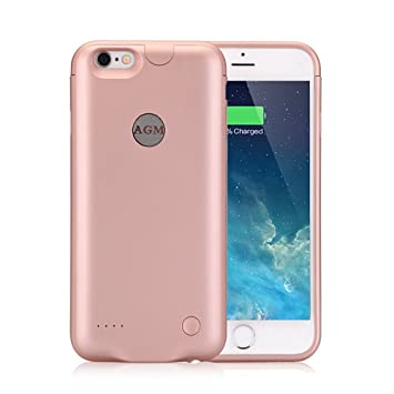 Funda Batería iphone 6 plus / iphone 6s plus, AGM Funda protectora cargador ultra fina 3000mAh carcasa cargador externa recargable para iPhone 6 plus ...