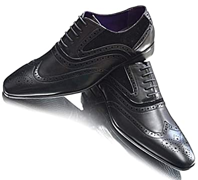 NEW MEN LACE UP WING TIP CLASSIC OXFORD WORK FORMAL PARTY CASUAL LEATHER LINED