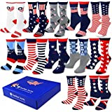 TeeHee Special (Holiday) 12-Pairs Socks with Gift Box. (9-11, American-A)