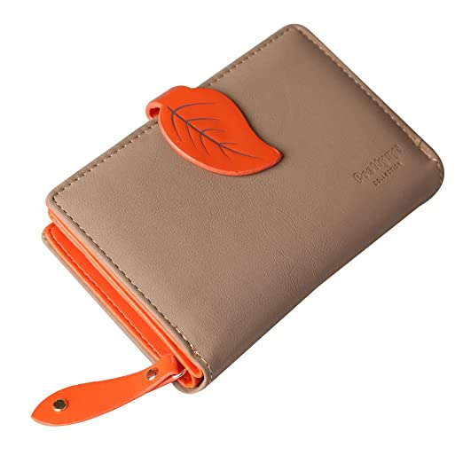 e2bfb63d16a Prettyzys Women Wallet For Girls Leather Leaf Hasp Coin Card Holder Purse  Clutch