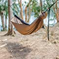 "Go Outfitters Go Camping Hammock 2.0 w/Built-in Mosquito Net - Slate Gray by 11' Long X 64"" Wide 