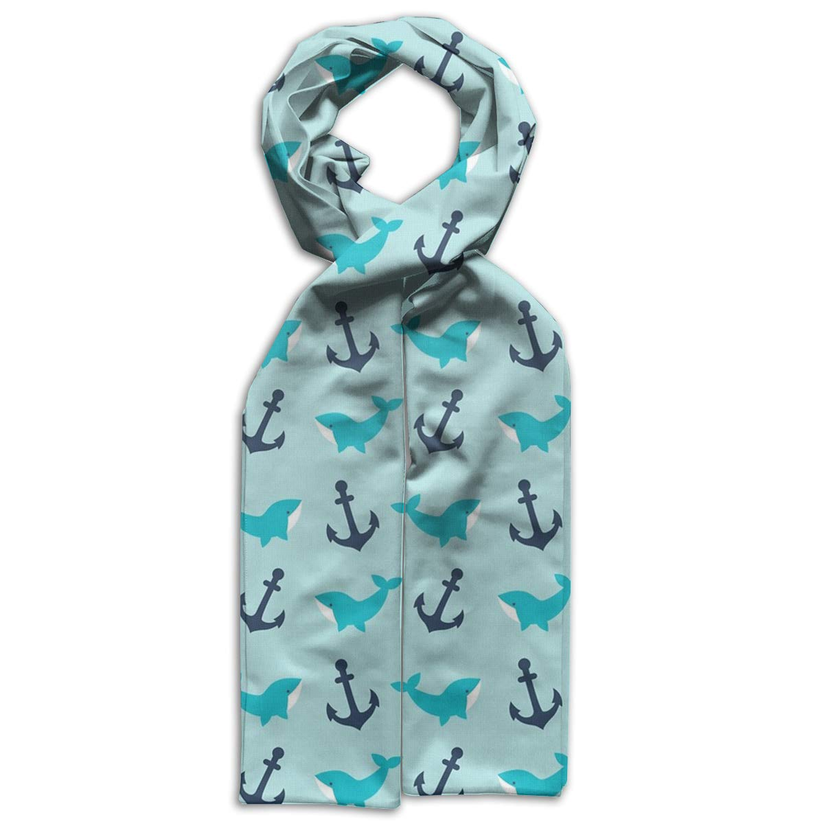 Kids Printed Scarf Fashion Winter Infinity Scarf Warmer Travel Scarf For Kids Perfect Birthday Gift Whale And Anchor