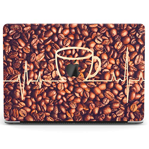 Wonder Wild Case for MacBook Air 13 inch Pro 15 2019 2018 Retina 12 11 Apple Hard Mac Protective Cover Touch Bar 2017 2016 2015 Plastic Laptop Print Coffee Grains Beans Heartbeat Wave Nurse Pattern