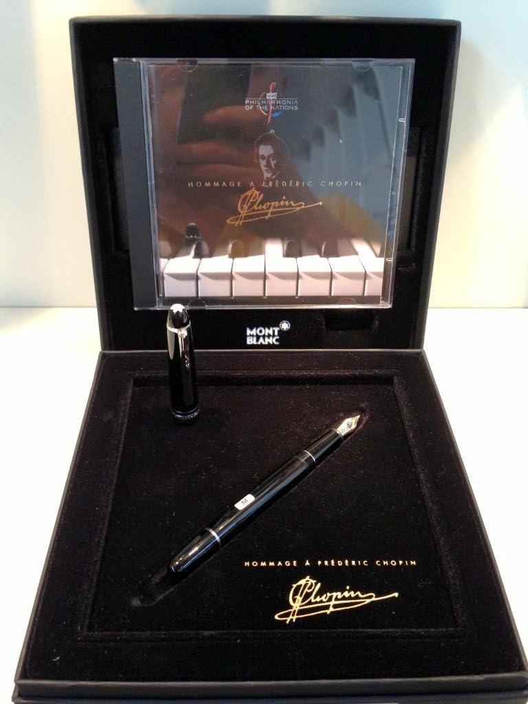 Pluma estilográfica Mont Blanc Meisterstuck Platinum Line Chopin estuche: Amazon.es: Oficina y papelería