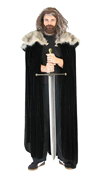Game Of Thrones Medieval North King Ned Stark Pelz Kostüm Cloak Cape