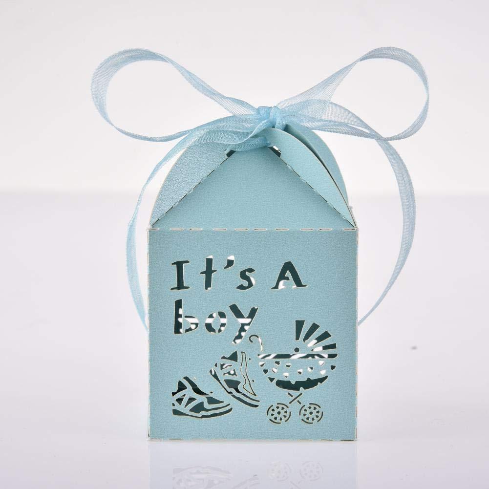 raninnao 50 St/ücke S/ü/ß Candy Box Geschenkbox S/ü/ßigkeiten Papier Hohl Schokoladen Kleine Geschenke Baby Shower Geburtstagsfeier