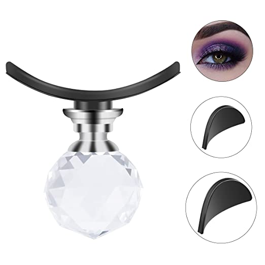Ikibity Eye Shadow Stamp Crease, Lazy Eyes Makeup Tool, precise eyeshadow in seconds, Eyeshadow Applicator with Crystal Ball Handle (3 Sizes) best eye shadow stamps