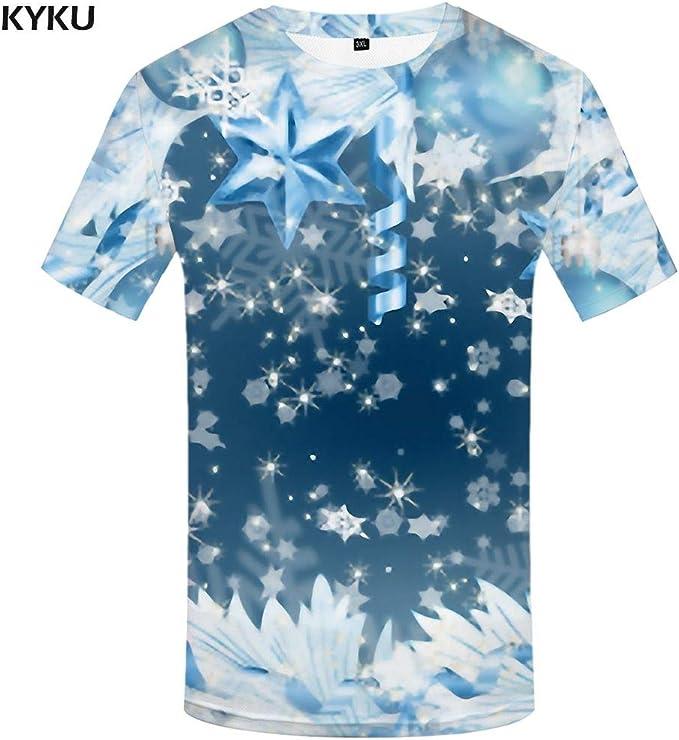 KYKU Camisetas psicodélicas Hombres Estampado en Blanco Harajuku Camiseta Homme Camiseta gótica Camiseta 3D Impreso Ropa para Hombre Estilo gráfico: Amazon.es: Deportes y aire libre