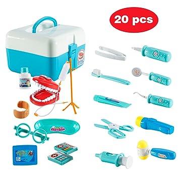 Amazon Com Funslane Dentist Toy Doctor Kit For Kids 20 Pcs Pretend