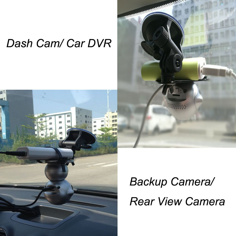 EsiCam Robot Wireless Camera for Smart Phone HD Two Way Audio Night Vision Alarm Recording with Magnetic Mount Suction Cup Used For Dash Cam Vehicle Backup RV Trailer Home Security Baby Monitor-EC07