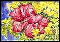 Caroline's Treasures Flower Hibiscus Indoor or Outdoor Doormat