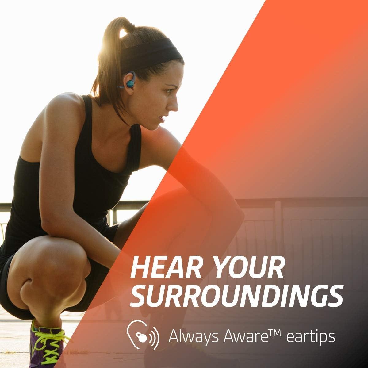 Plantronics BackBeat FIT 2100 Wireless Headphones, Sweatproof and Waterproof In Ear Workout Headphones, Black