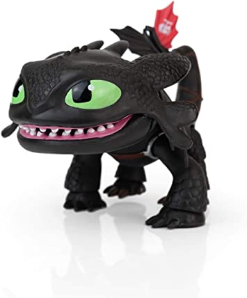 """Toothless How To Train Your Dragon 6/"""" Action Vinyl Glow Eyes"""