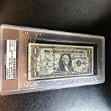 Stunning Honus Wagner Signed $1 Dollar Bill With 1935 Pirates Team COA - PSA/DNA Certified - MLB Autographed Miscellaneous Items