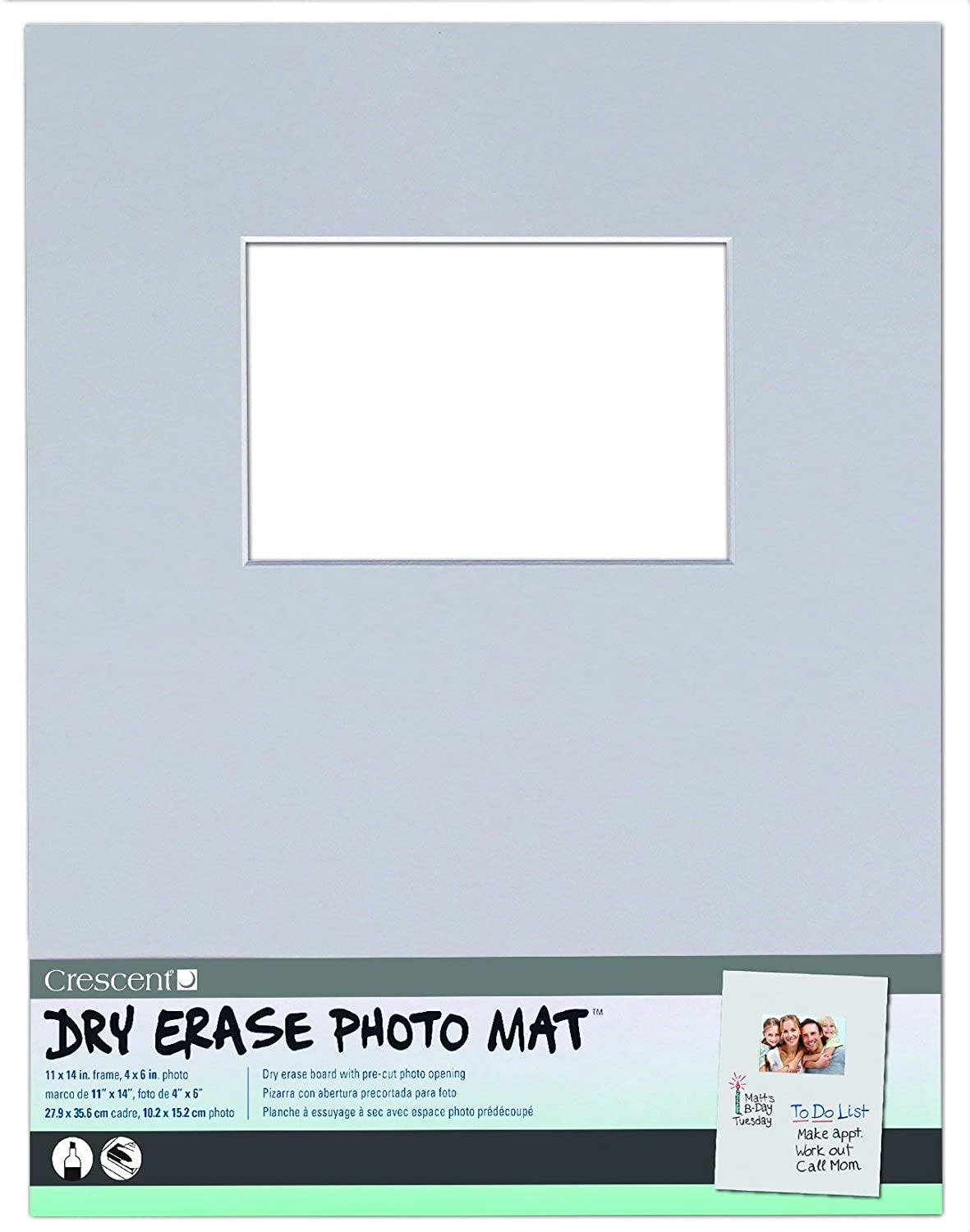 Amazon.com: Crescent Creative Products Light Gray Dry Erase Photo ...
