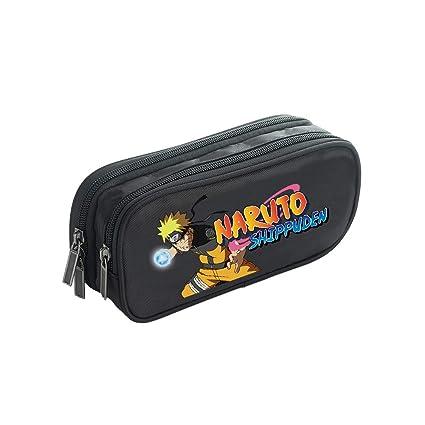Naruto Estuche de Lápices Lona Doble Cremallera Estuches de lápices Gran Capacidad Bolsa Lápiz Bolsa de Almacenamiento multifunción Bolsa (Color : Black01, Size : 21 X 7 X 10cm): Amazon.es: Equipaje
