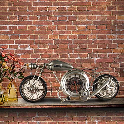 Autumn Water Creative Motorbike Bicycle Design Vintage Iron Art European Garden Desk Clock Table Decoration Home Birthday Gift