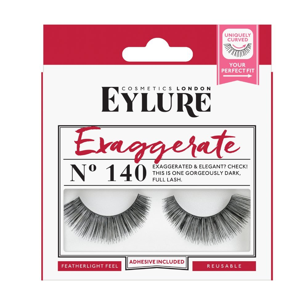 24f6f882433 Eylure Strip Lashes No.140 (Exaggerate): Amazon.co.uk: Beauty