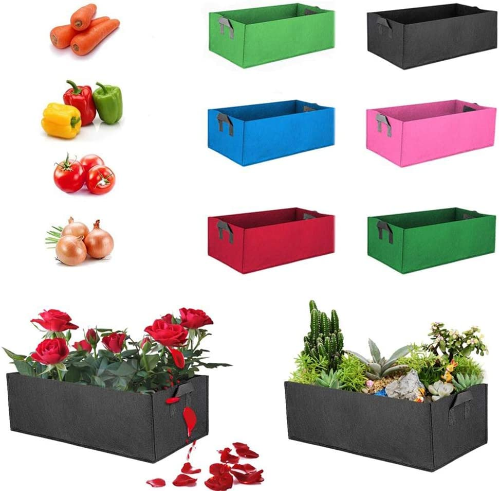 Seed Starting Pot Flower Plant Container for Succulents EDQZ Vegetable Plant Grow Bag Potato Planter Planting Nursery Pot Seedlings Cuttings Transplanting Cyan S