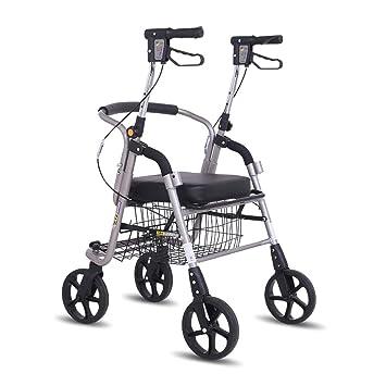 Andador de ruedas Elevador de freno Andador Andador plegable de 4 ...