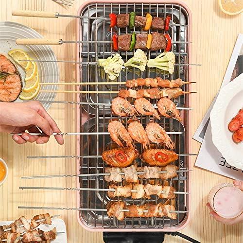 N / A Barbecue électrique, Grille de Barbecue électrique Domestique, Gril sans fumée, Petit Barbecue, Machine à brochettes de Gril électrique intérieure,