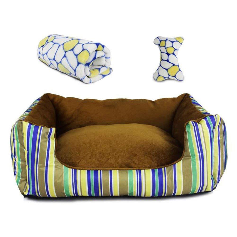 Casa del Cane, Kennel Cat Nest Pet Nest Cuscino per Divano Lavabile Pet Supplies (colore  Blu, Taglia  M) (colore   Khaki, Dimensione   Small)