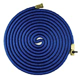 50' Expandable Garden Hose, No Kink Design With Strong Brass Connectors, Strong Outer Sleeve 5000D Material, Inner Double Layer Latex,