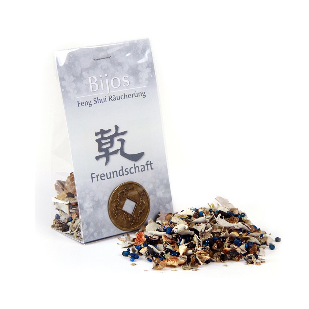 Bitto Incensi Feng Shui AMICIZIA - QUIEN con monete della fortuna cinesi, con questi incensi si armonizzerà i rapporti con le persone, 33 g