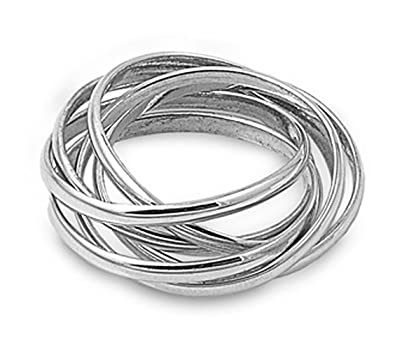 silver interlocking rings