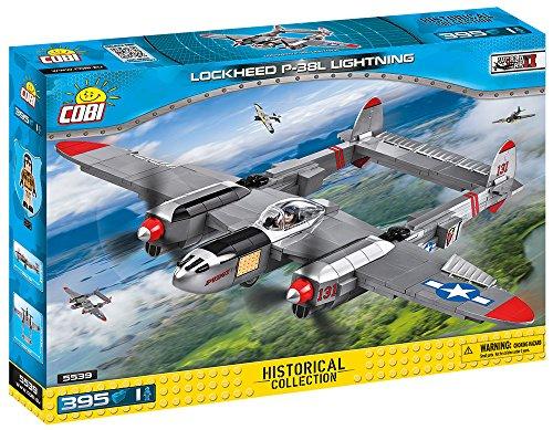 P-38 Lightning Fighter (COBI Small Army /5539/ LOCKHEED P-38 LIGHTNING 395 building bricks)