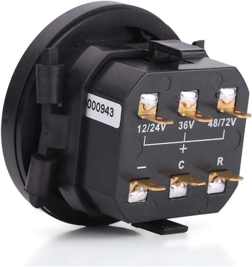 Fydun Indicador de bater/ía indicador LED de bater/ía digital con medidor de horas para bater/ía de 12V 24V 36V 48V 72V voltio