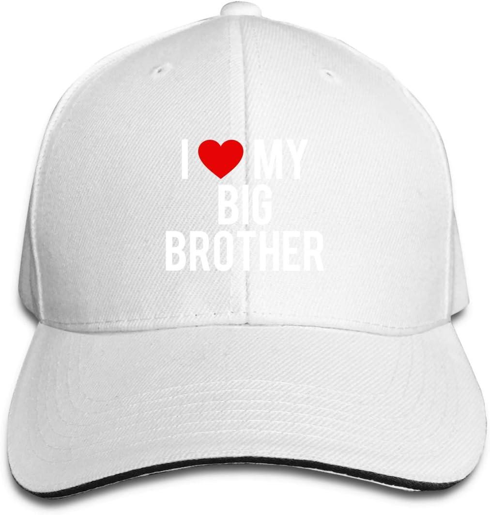 WFIRE Adult Baseball Caps I Love My Big Brother Custom Adjustable Sandwich Cap Casquette Hats
