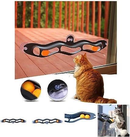Pet Cat Toys Window Sucker Track Ball Toy, interesantes Juegos interactivos de Tenis de Mesa para