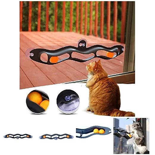 Pet Cat Toys Window Sucker Track Ball Toy, interesantes Juegos ...