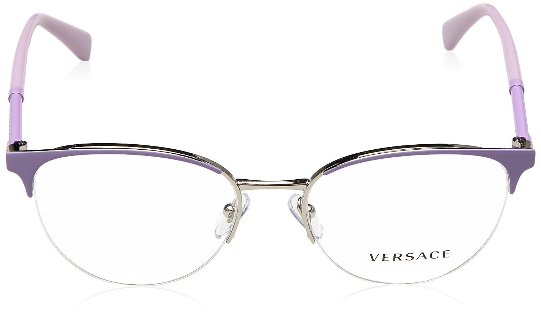 eca11ecdf6c Versace Glasses Frames 1247 1000 Lilac Silver 52mm Womens  Amazon.ca   Clothing   Accessories