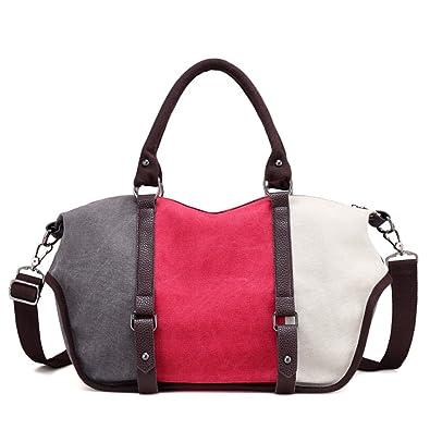LOSMILE Women s handbag Canvas Shoulder Bag Ladies Top Handle Tote Bags  Casual Crossbody Bags. ( cfb0d8690cd00