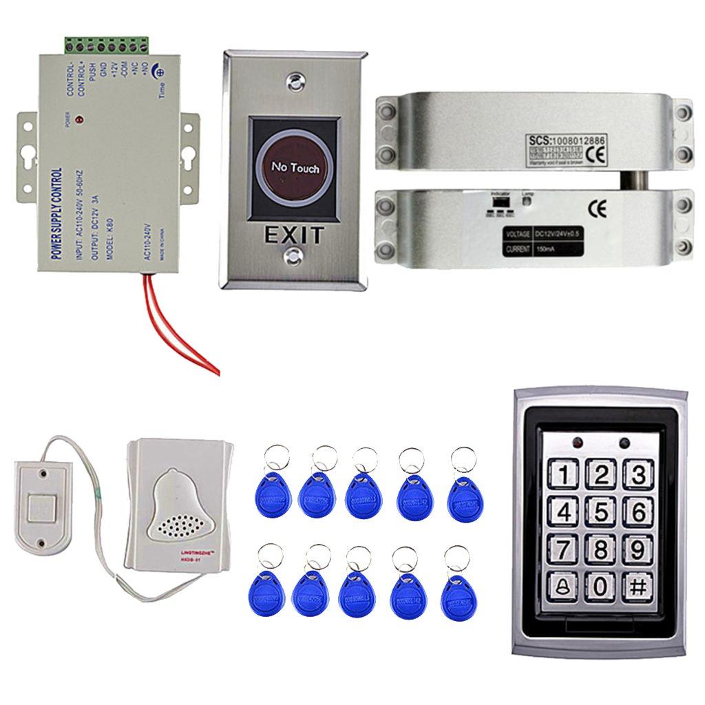 Perfk アクセス制御システム 1000指紋 キーパッド  Rfidカード ドアベル  10キーカード ドアアクセスコントロール B07D8J6XZL