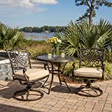 Hanover TRADITIONS3PCSW Traditions 3-Piece Deep-Cushioned Outdoor Bistro Set